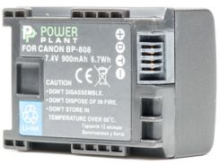 Аккумулятор PowerPlant Canon BP-808 Chip 900mAh