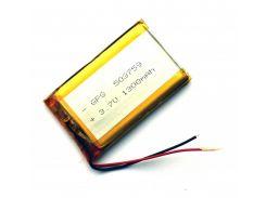 Аккумулятор литий-полимерный Azimuth 3,7V 1300mAh 2pin (60 х 37 х 5 мм)