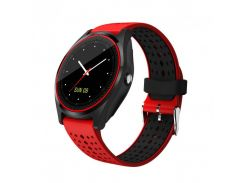 Умные смарт часы Smart Watch V9 Black-Red