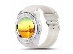 Умные смарт часы Smart Watch V8 White