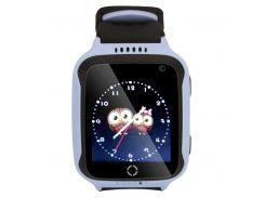 Детские умные смат часы M05 с GPS, фонариком и камерой Голубой