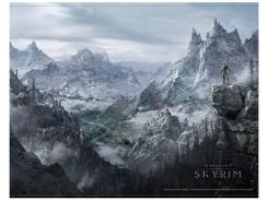 Плакат Gaya Skyrim Wallscroll - Valley