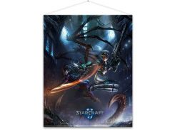 Плакат Gaya Starcraft Wallscroll - Kerrigan and Nova