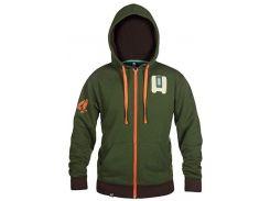 Толстовка JINX Overwatch Zip Up Hoodie - Ultimate Bastion Green, L