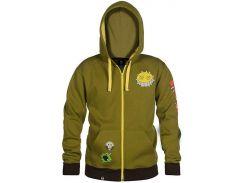 Толстовка JINX Overwatch Zip Up Hoodie - Ultimate Junkrat Military Green, XL