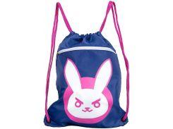 "Сумка JINX Overwatch D.Va Bunny Cinch Bag 15"", Blue"
