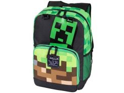 "Рюкзак JINX Minecraft Creepy Things Backpack 17"", Green"
