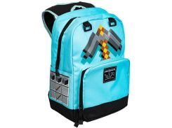 Рюкзак JINX Minecraft Diamond Pickaxe Backpack, Blue
