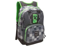 Рюкзак JINX Minecraft Creepy Creeper, Dark Grey