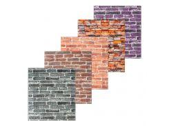 3D декоративная панель для стен цветной кирпич (самоклейка)