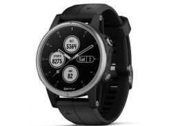 Спортивные часы Garmin fenix 5S Plus, Glass, Silver w/Black Bnd, GPS Watch, EMEA (010-01987-21)