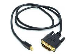 Кабель PowerPlant mini DisplayPort (M) - DVI (M), 1 м