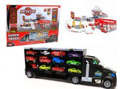 Детский игровой гараж-паркинг Synergy Trading Rescue fire P877-A
