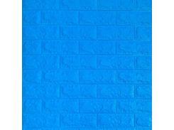 3D Панель для стен:цвет однотонный (под кирпич) лофт (самоклеящиеся) Синий