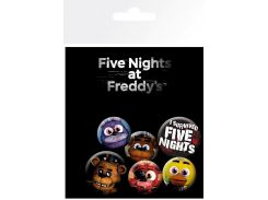 Значок GB eye Badge Pack: Five Nights at Freddy's Mix (BP0700)