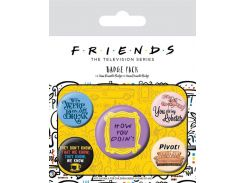 Значок Pyramid International Badge Pack: Friends - Quotes
