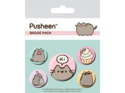 Значок Pyramid International Badge Pack: Pusheen - Pusheen Says Hi