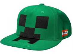 Кепка JINX Minecraft - Creeper Mob Hat Applique, Green Youth