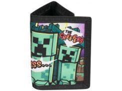 Кошелек JINX Minecraft - Steve Overworld Tri-Fold Wallet with Coin Pouch