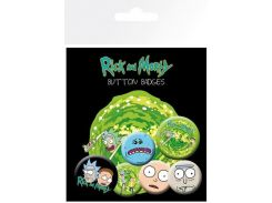Значок GB eye Badge Pack: Rick and Morty Characters (BP0694)