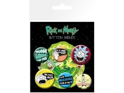 Значок GB eye Badge Pack: Rick and Morty Mix 1 (BP0770)