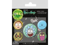 Значок Pyramid International Badge Pack: Rick and Morty - Heads
