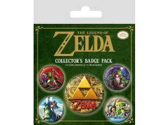 Значок Pyramid International Badge Pack: The Legend Of Zelda - Classics