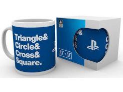 Чашка GB eye Playstation - Circle Square Cross Triangle (MG2017)