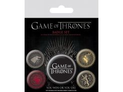 Значок Pyramid International Badge Pack: Game Of Thrones - The Four Great Houses