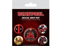 Значок Pyramid International Badge Pack: Marvel - Deadpool