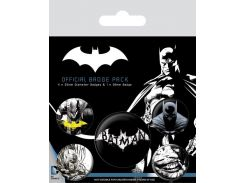 Значок Pyramid International Badge Pack: DC - Batman (Dark)