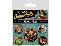 Значок Pyramid International Badge Pack: DC - Bombshells