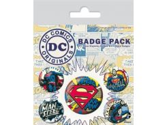 Значок Pyramid International Badge Pack: DC - Superman Comic