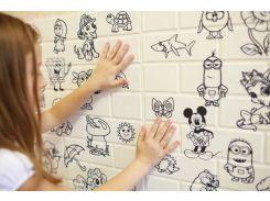 3D Панель детская моющиеся, можно рисовать (самоклейка)