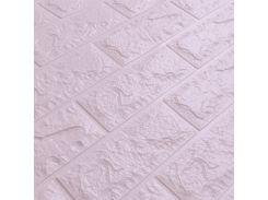 3D Панель для стен:цвет однотонный (под кирпич) лофт (самоклеящиеся) Светло-фиолетовый