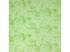 3D Панель мрамор лофт (самоклейка) Зеленый
