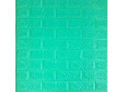 3D Панель для стен:цвет однотонный (под кирпич) лофт (самоклеящиеся) Зеленая трава