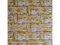 3D Панель черный лофт (самоклейка) Бамбук цвета желтый