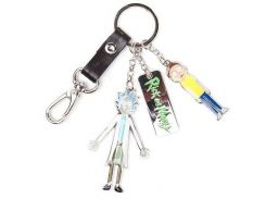 Брелок Difuzed Rick and Morty - Characters And Logo Metal Keychain
