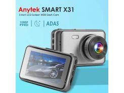 """Автомобильный видеорегистратор Anytek X31 1080P FHD 3,0 """" / Двойной объектив / G-сенсор / Ночное видение"""