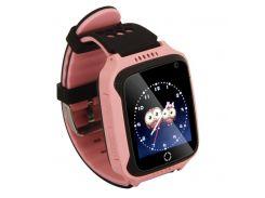 Детские умные смат часы M05 с GPS, фонариком и камерой Розовый