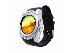 Умные смарт часы Smart Watch V8 Silver