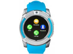 Умные смарт часы Smart Watch V8 Blue