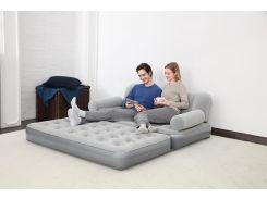 Надувная кровать-диван  трансформер  188x152x64см, встроенный электронасос