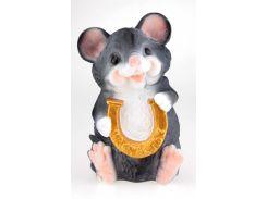 Мышка копилка 30 см с подковой  – символ года 2020, год мыши/крысы