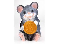 Мышка копилка 30 см с долларом