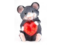 Мышка копилка 30 см с сердечком