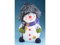 Снеговик в шляпе 30 см. ночник копилка