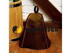 Шапка для бани и сауны Fassbinder™ цветной войлок (коричневый)