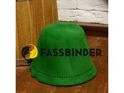 Шапка для бани и сауны из шлифованного пуха сибирского кролика Fassbinder™, зеленая
